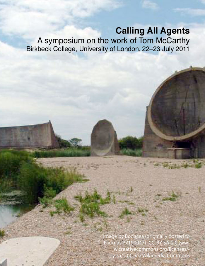 Calling All Agents: A symposium on the work of Tom McCarthy